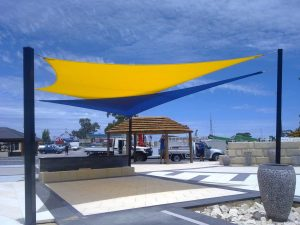Restaurants can take advantage of commercial shade sails. You can brighten up your backyards using shade sails too.