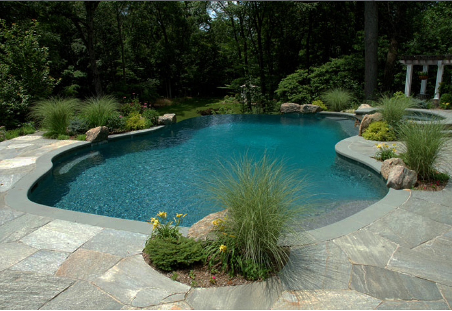 You will find that your bullnose coping pavers will be more secure, as well, as the material gives additional hold to the feet to forestall episodes of slipping and falling.
